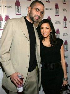 Tony Parker e sua bela esposa Eva Longoria