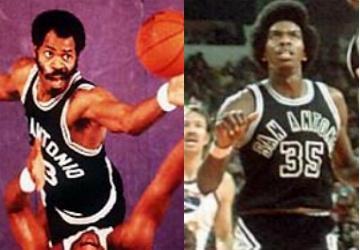 Altis Gilmore (e) e Larry Kenon (d)