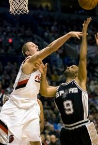 Spurs Trail Blazers Basketball